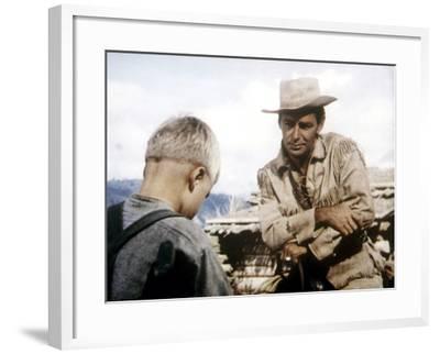 Shane, Brandon De Wilde, Alan Ladd, 1953--Framed Photo