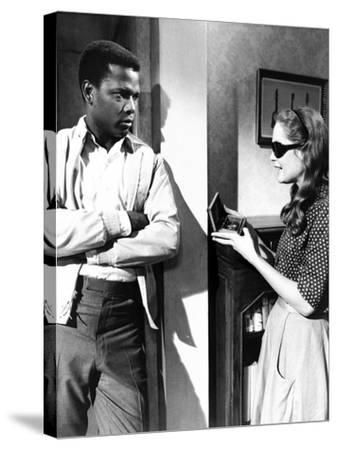 A Patch Of Blue, Sidney Poitier, Elizabeth Hartman, 1965--Stretched Canvas Print
