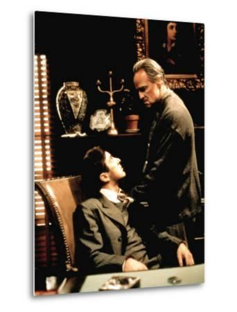 The Godfather, Al Pacino, Marlon Brando, 1972--Metal Print
