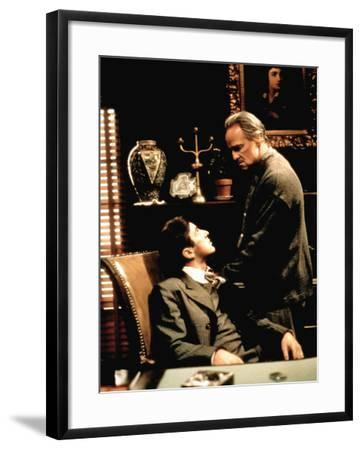 The Godfather, Al Pacino, Marlon Brando, 1972--Framed Photo