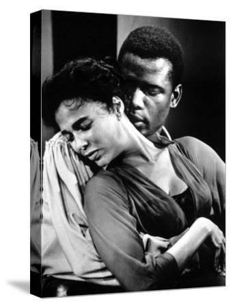 Porgy And Bess, Sidney Poitier, Dorothy Dandridge, 1959--Stretched Canvas Print