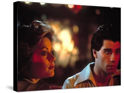 Saturday Night Fever, Donna Pescow, John Travolta, 1977--Stretched Canvas Print