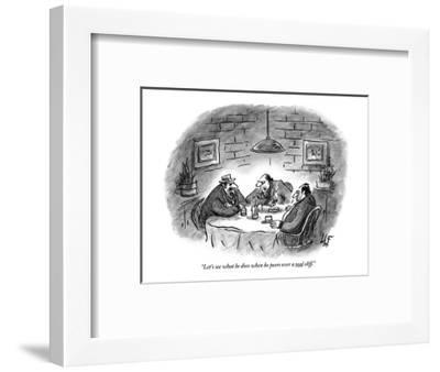 """""""Let's see what he does when he peers over a real cliff."""" - New Yorker Cartoon-Frank Cotham-Framed Premium Giclee Print"""