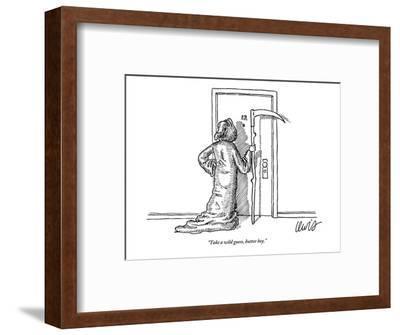 """Take a wild guess, butter boy."" - New Yorker Cartoon-Eric Lewis-Framed Premium Giclee Print"