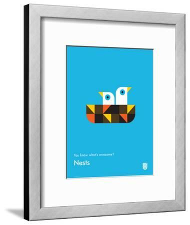 You Know What's Awesome? Nests (Blue)-Wee Society-Framed Giclee Print
