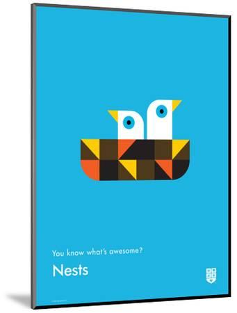 You Know What's Awesome? Nests (Blue)-Wee Society-Mounted Giclee Print