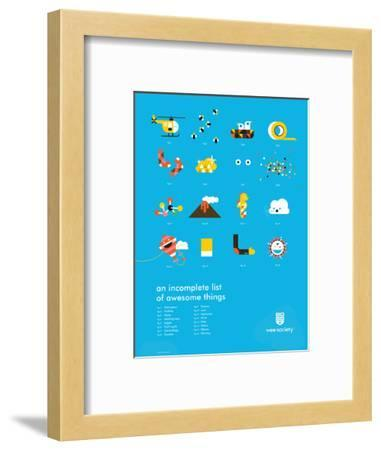 You Know What's Awesome? List (Blue)-Wee Society-Framed Giclee Print