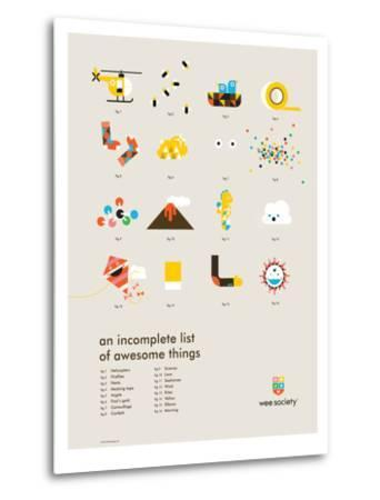 You Know What's Awesome? List (Gray)-Wee Society-Metal Print