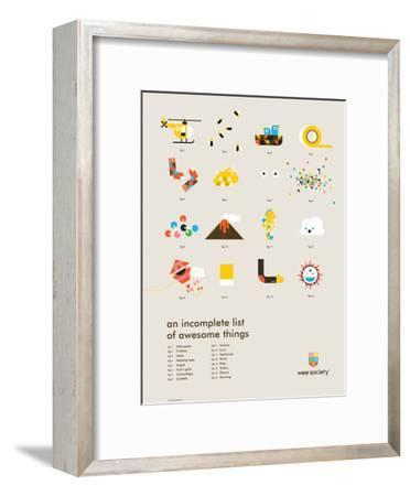 You Know What's Awesome? List (Gray)-Wee Society-Framed Giclee Print