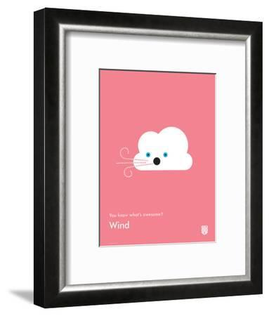 You Know What's Awesome? Wind (Pink)-Wee Society-Framed Giclee Print