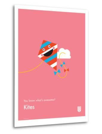 You Know What's Awesome? Kites (Pink)-Wee Society-Metal Print