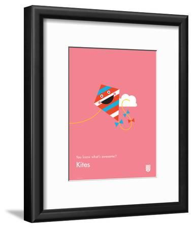 You Know What's Awesome? Kites (Pink)-Wee Society-Framed Giclee Print