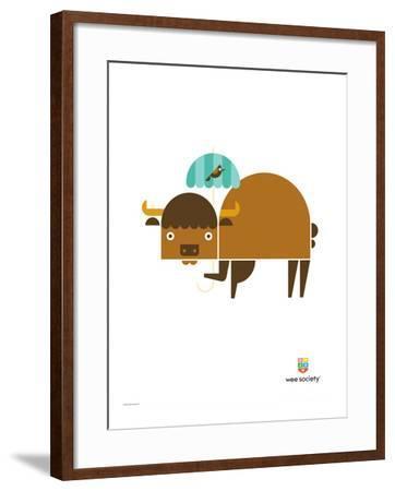 Wee Alphas, Biki the Buffalo-Wee Society-Framed Giclee Print