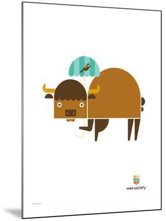 Wee Alphas, Biki the Buffalo-Wee Society-Mounted Giclee Print