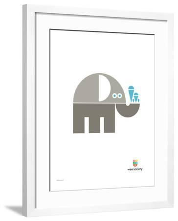 Wee Alphas, Eli the Elephant-Wee Society-Framed Giclee Print