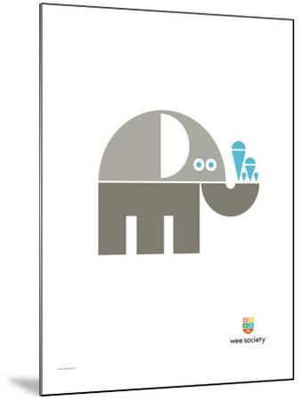 Wee Alphas, Eli the Elephant-Wee Society-Mounted Giclee Print