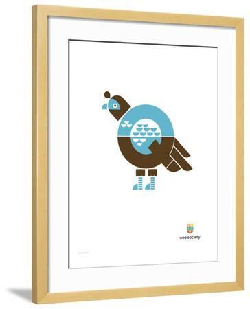 Wee Alphas, Quinnlyn the Quail-Wee Society-Framed Giclee Print