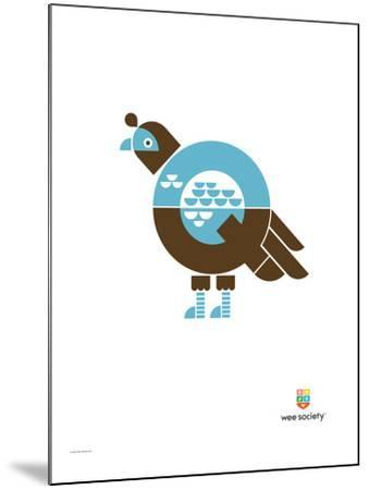 Wee Alphas, Quinnlyn the Quail-Wee Society-Mounted Giclee Print