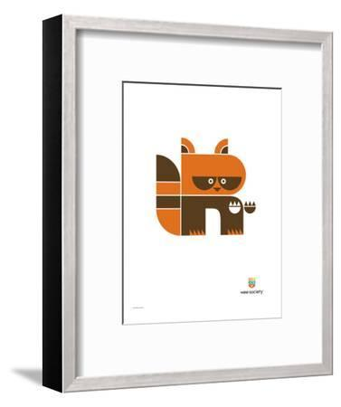 Wee Alphas, Riley the Raccoon-Wee Society-Framed Premium Giclee Print