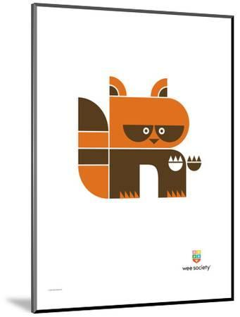 Wee Alphas, Riley the Raccoon-Wee Society-Mounted Premium Giclee Print