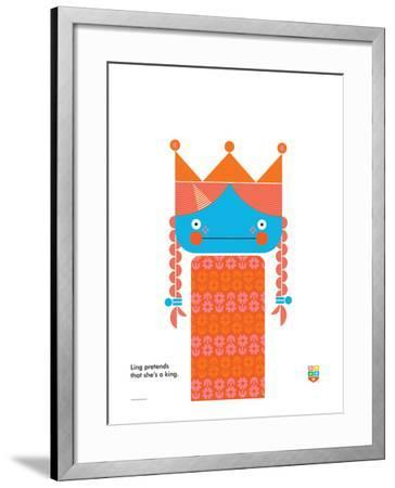 Wee You-Things, Ling-Wee Society-Framed Giclee Print