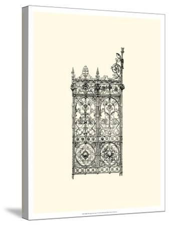 B&W Wrought Iron Gate V--Stretched Canvas Print