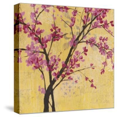 Fuchsia Blossoms II-Jennifer Goldberger-Stretched Canvas Print