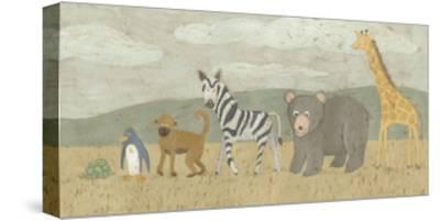 Animals All in a Row II-Megan Meagher-Stretched Canvas Print