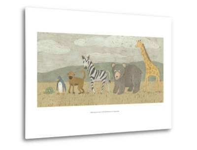 Animals All in a Row II-Megan Meagher-Metal Print
