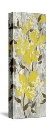 Buttercups on Grey I-Jennifer Goldberger-Stretched Canvas Print