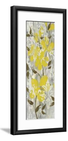 Buttercups on Grey I-Jennifer Goldberger-Framed Art Print