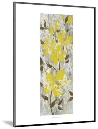 Buttercups on Grey I-Jennifer Goldberger-Mounted Art Print