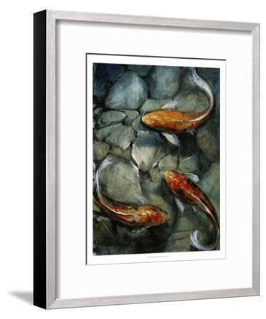 Tres Koi I-Tim O'toole-Framed Art Print