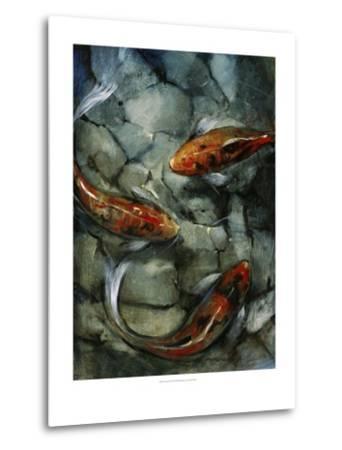 Tres Koi II-Tim O'toole-Metal Print