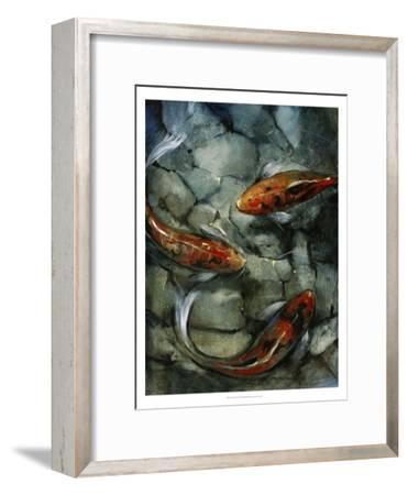 Tres Koi II-Tim O'toole-Framed Art Print