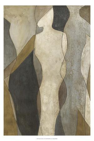 Figure Overlay I-Megan Meagher-Stretched Canvas Print