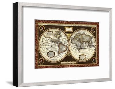 Decorative World Map Art Print By Vision Studio Art Com