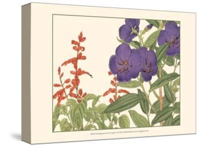 Small Japanese Flower Garden VI-Konan Tanigami-Stretched Canvas Print