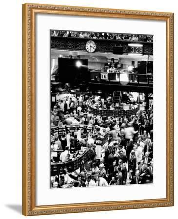 Trading Floor of the New York Stock Exchange on August 16, 1971--Framed Photo