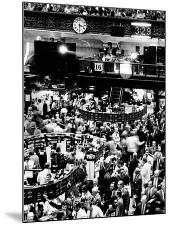 Trading Floor of the New York Stock Exchange on August 16, 1971--Mounted Photo