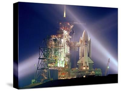 The Columbia on Launch Pad Prior to First Launch of 30 Year Space Shuttle Program, Apr 12, 1981--Stretched Canvas Print