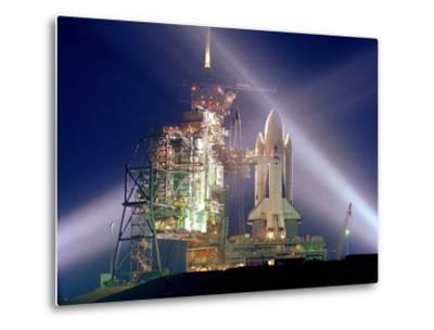 The Columbia on Launch Pad Prior to First Launch of 30 Year Space Shuttle Program, Apr 12, 1981--Metal Print