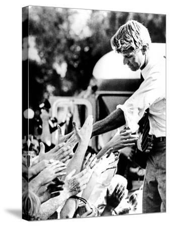 Robert Kennedy Shaking Hands During 1968 Campaign--Stretched Canvas Print