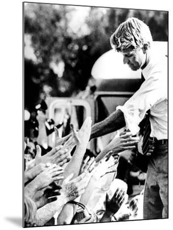 Robert Kennedy Shaking Hands During 1968 Campaign--Mounted Photo