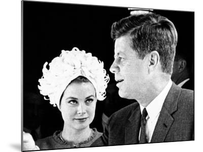 Princess Grace of Monaco and President John F Kennedy--Mounted Photo