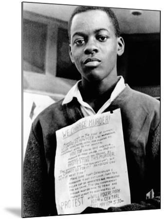 African American Youth Protests the Police Killing of Leonard Deadwyler--Mounted Photo
