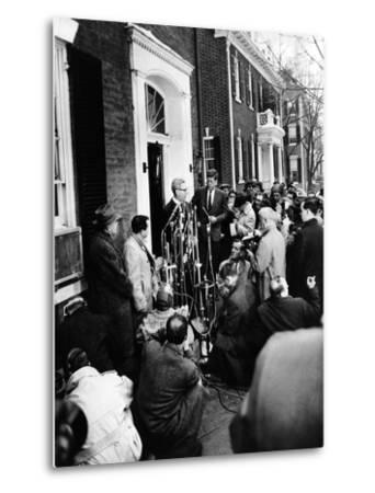 Mob Scene Outside President-Elect John Kennedy's Georgetown Home--Metal Print