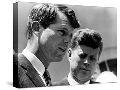 Pres John Kennedy and Attorney General Robert Kennedy at Ceremonies Honoring African Americans--Stretched Canvas Print