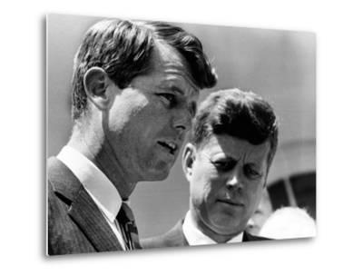 Pres John Kennedy and Attorney General Robert Kennedy at Ceremonies Honoring African Americans--Metal Print