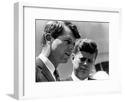 Pres John Kennedy and Attorney General Robert Kennedy at Ceremonies Honoring African Americans--Framed Photo